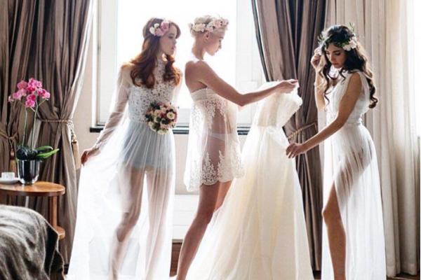 Как одеть свадебное платье